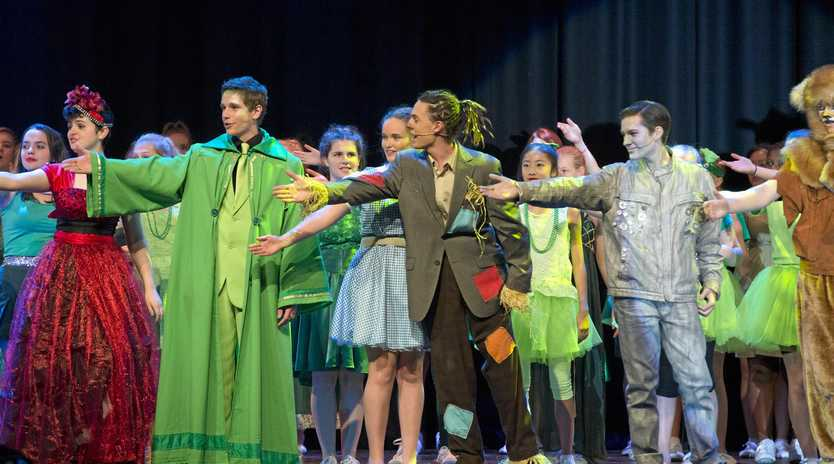 Centenary Heights State High School musical The Wiz, Tuesday, May 17, 2016.