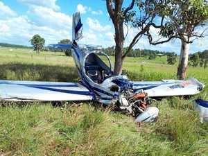 Light plane 'written off' in disastrous Kybong landing