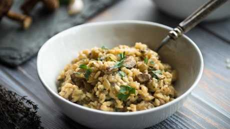 The key to cooking risotto in the microwave is to do it in stages. Picture: iStock