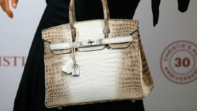 The bag that cost more than a two-bedr apartment in Brisbane. Picture: Isaac Lawrence/AFP/Getty Images