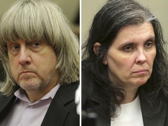 David, 57, and Louise, 49, have pleaded not guilty to more than 80 charges relating to child abuse, cruelty and false imprisonment. Picture: Terry Pierson/The Press- Enterprise