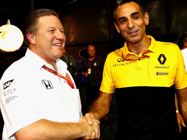 McLaren Executive Director Zak Brown (left) is the wildcard in Daniel Ricciardo's big decision.