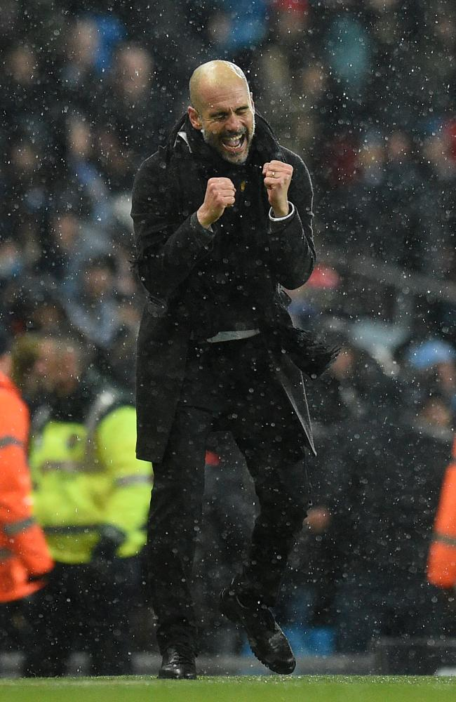 Manchester City's Spanish manager Pep Guardiola