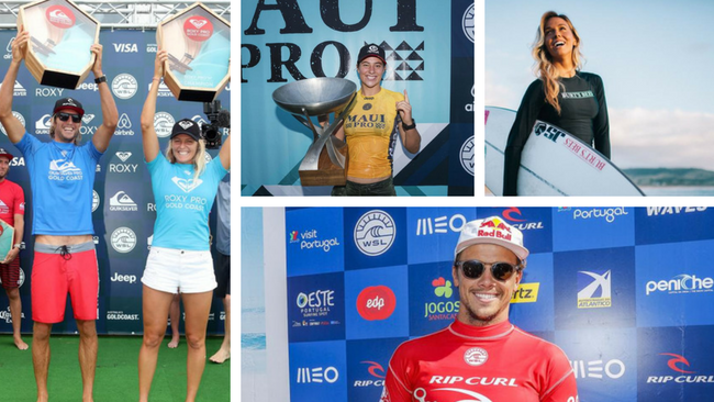 Australia's top surfers on the world tour in 2018