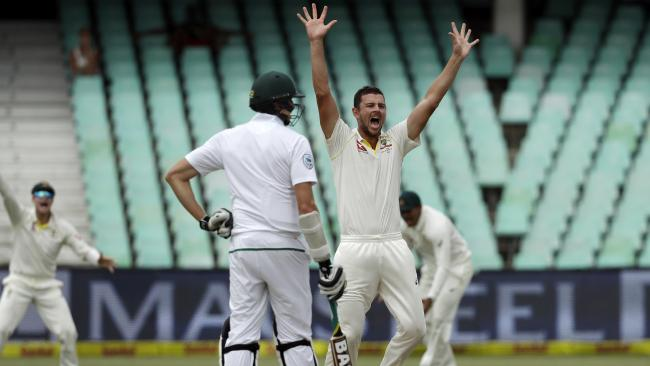 Josh Hazlewood claimed the final wicket to deliver the Aussies victory.