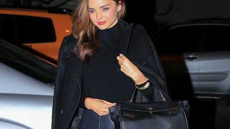 Miranda Kerr in Downtown Manhattan with her Hermes Birkin. Picture: Alessio Botticelli/GC Images