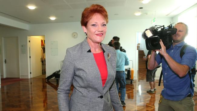 Senator Pauline Hanson wants the media to ease up on Barnaby Joyce. Picture: Kym Smith