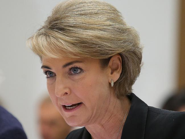 Last week's outburst by Senator Michaelia Cash didn't help Malcolm Turnbull's Newspoll ratings. Picture: Kym Smith