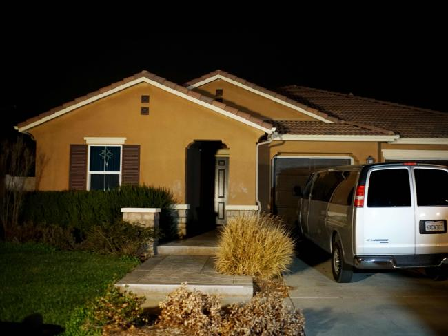 House of horrors: The Turpins' Perris, California home where 13 children were held captive in filthy conditions with some shackled to beds with chains and padlocks. Picture: AFP
