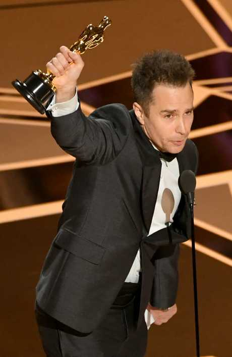 Best Supporting Actor winner Sam Rockwell. Picture: Getty Images