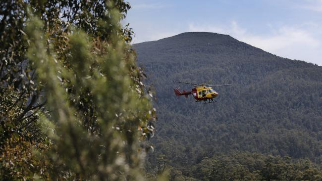 The search around Duckhole Lake in Tasmania never found 66-year-old Bruce Fairfax. Picture: Mathew Farrell