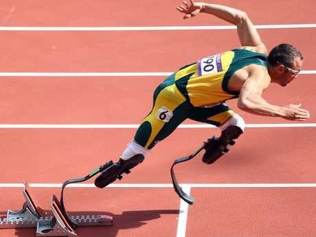 Oscar Pistorius at the 2012 London Olympics. Picture: Getty