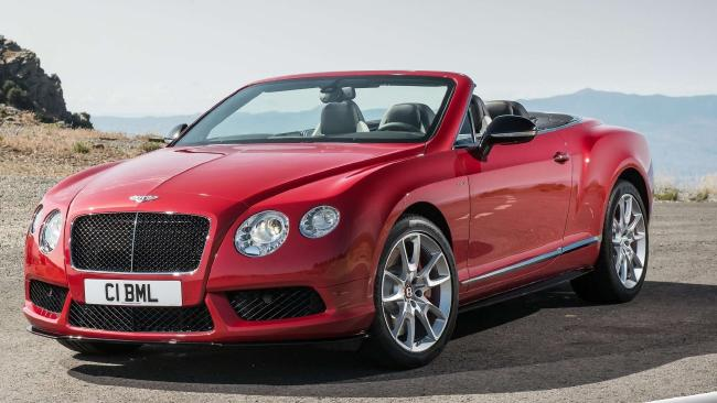 Dream car: Bentley convertible.