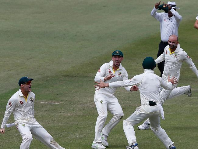The Aussies were fired up on day four.