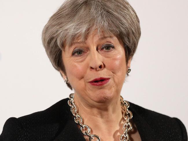 British Prime Minister Theresa May telephoned Mr Trump at the weekend and told him the trade tariffs would hurt America's allies. Picture: Jonathan Brady / AFP