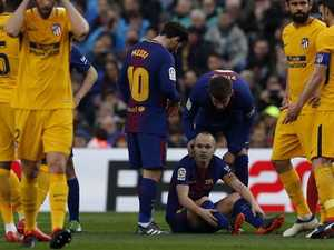 Big Barca CL blow sours Messi's historic night