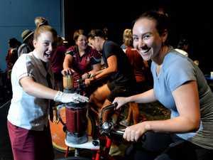 Using bikes to make healthy treats