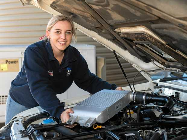 DIESEL FITTER: Gemma Hartwig completed her apprenticeship in Dalby and won Young Apprentice of the Year in 2017.