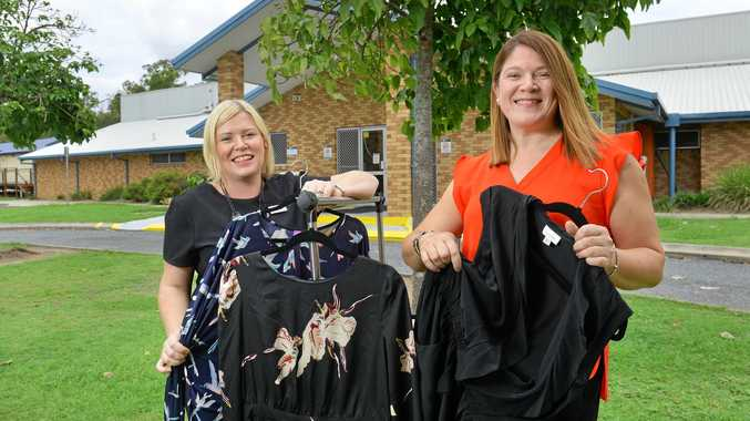 Marie Blomfield-Mann and Allison Lees of LJ Hooker Greater Springfield are holding a pre-loved clothing event at the Camira Community Centre.