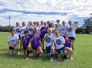 Women's football kicks on