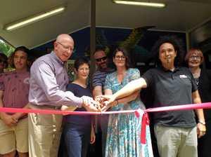 Governor dedicates local gym