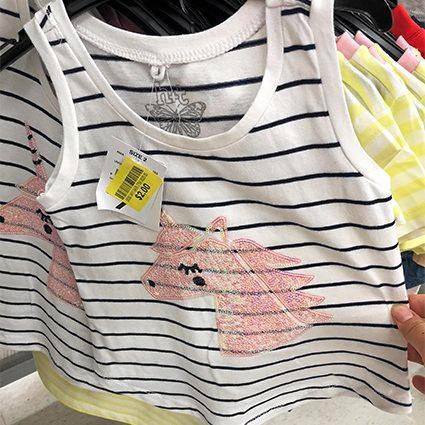 T shirt at Kmart, $2