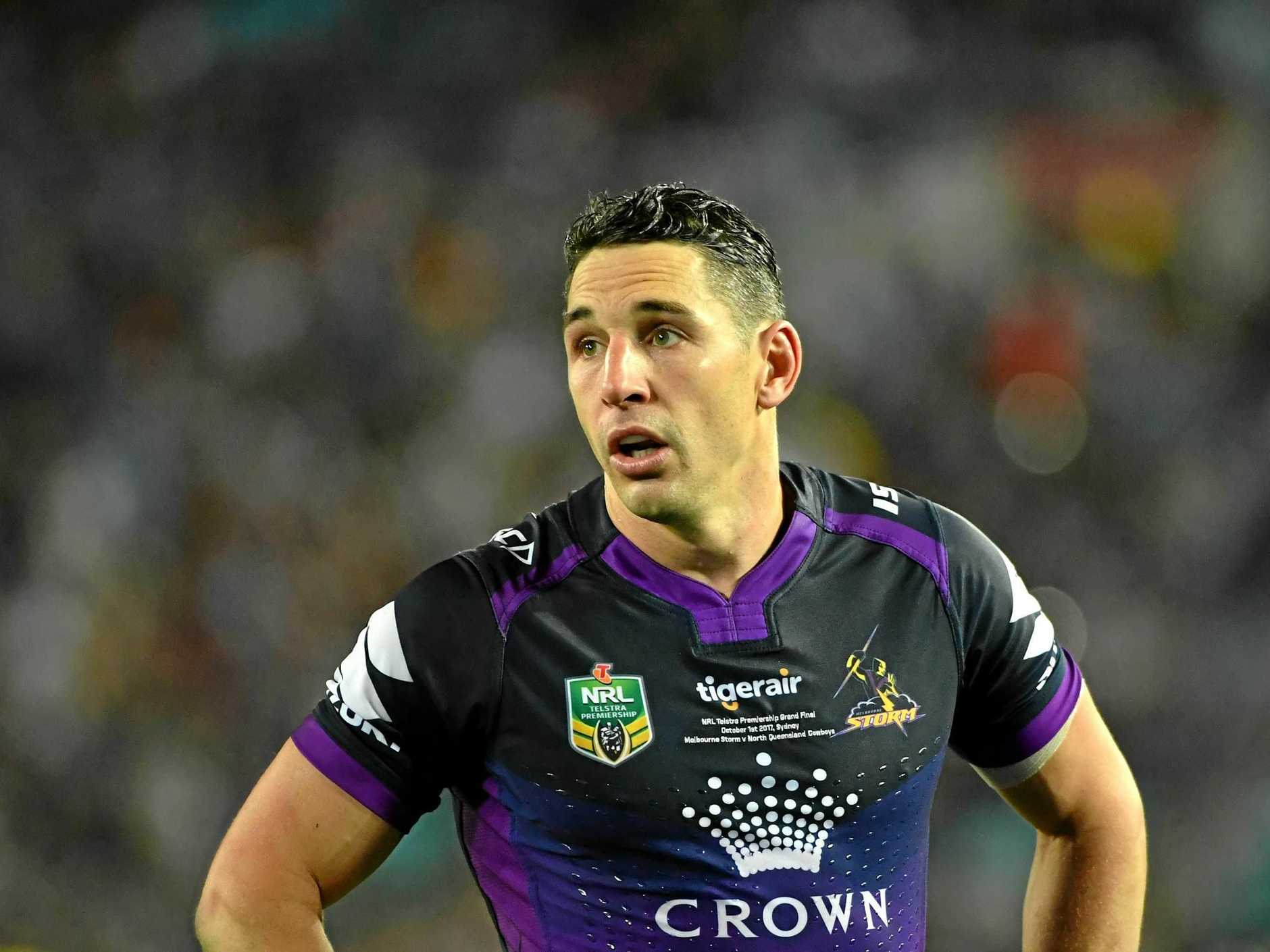 Billy Slater has pulled out ot the Melbourne's Storm's opening NRL match of the season because of shoulder soreness.