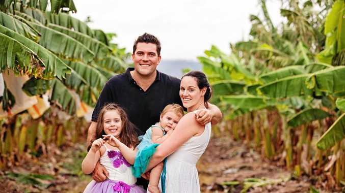 Natural Evolution Founders Rob and Krista Watkins with daughters Kate and Kira. Krista is a finalist in the Rural Women's Awards.