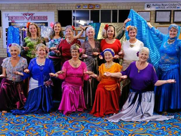 ACTIVE AGEING: The colourful ladies of the U3A Ballina Byron Raqs Sharqi dance class.