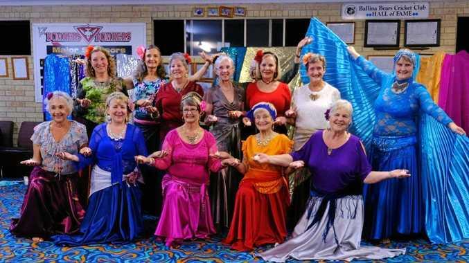 ACTIVE AGEING: The colourful ladies of the U3A Ballina Byron Raqs Sharqi dance class.