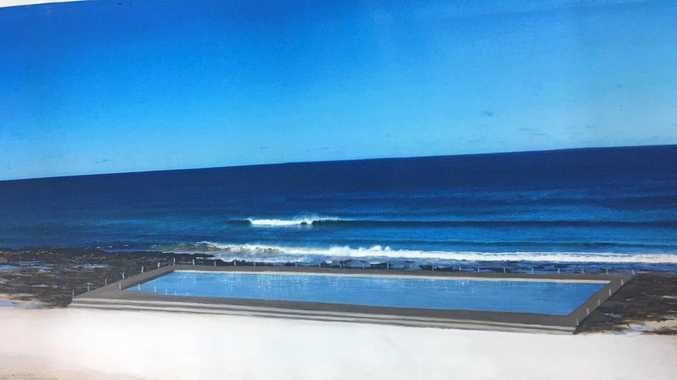 ARTISTS IMPRESSION: An artist's impression of the proposed Ballina ocean pool.