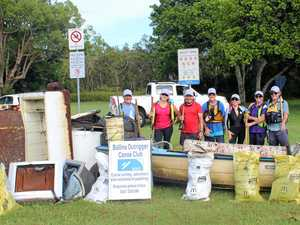 CLEANUP: Canoe used to shift two fridges and a burnt out car