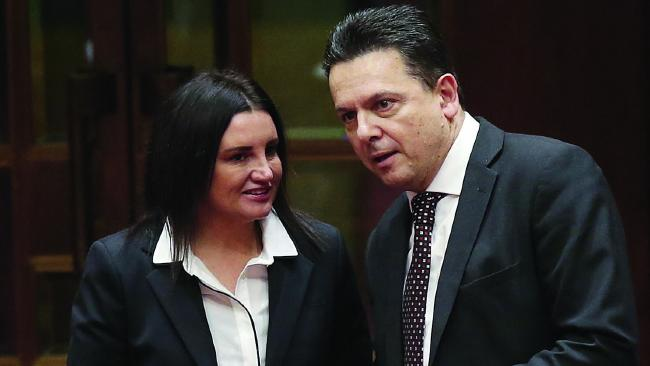 Jacqui Lambie said she went on a date with former senator Nick Xenophon but he was a cheapskate. Picture: Kym Smith