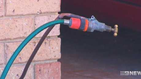 Denishar Woods suffered an electric shock after using a garden tap. Picture: 9 News
