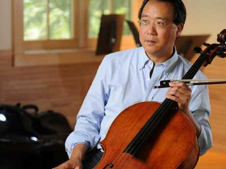 Cellist Yo-yo Ma treated the 13 abused Turpin children to a private concert on March 1. Picture: Supplied
