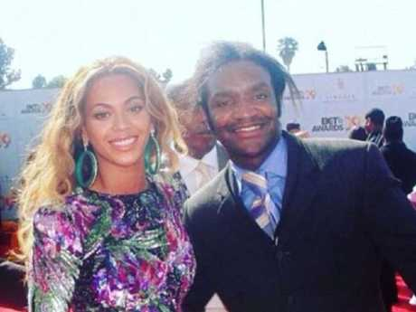 Terry Bryant pictured with Beyonce in 2009. Picture: Facebook