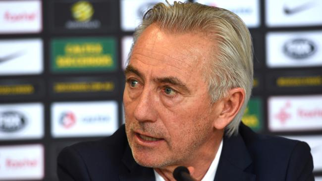 Bert van Marwijk will test a couple of new faces when the Socceroos play Norway and Colombia. Pic: AFP