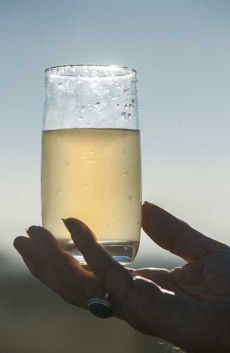 Contaminated water at Oakey, in Queensland, another area poisoned by the fire fighting foam. Picture: David Martinelli