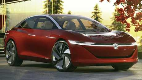 The I.D. Vizzion is the fourth of a series of electric show cars released by Volkswagen. Pic: Supplied.