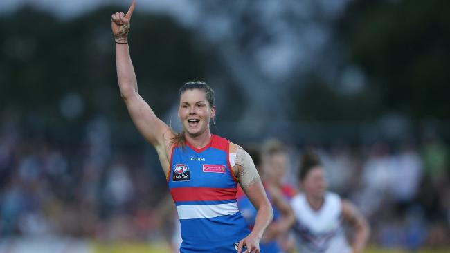 Katie Brennan is close to a return for the Bulldogs. Picture: Wayne Ludbey