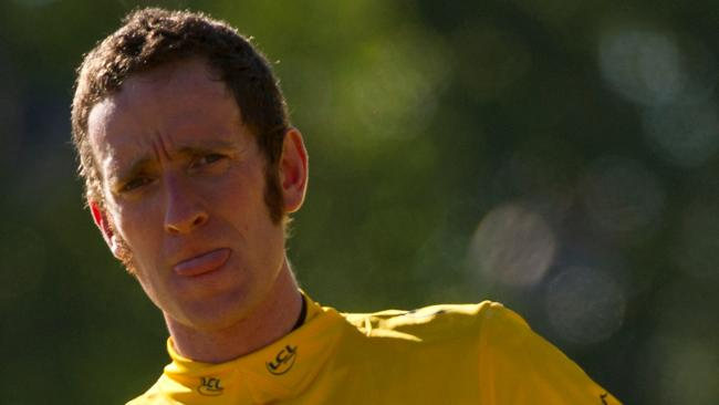 British cycling star Bradley Wiggins.