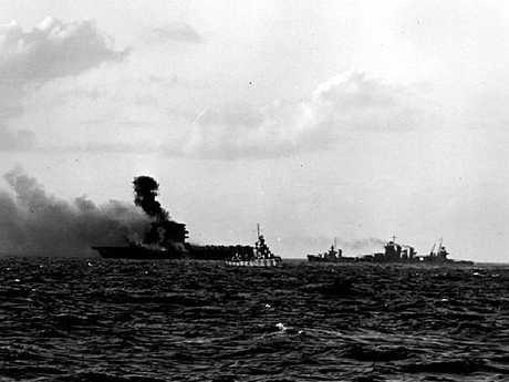 The doomed aircraft carrier USS