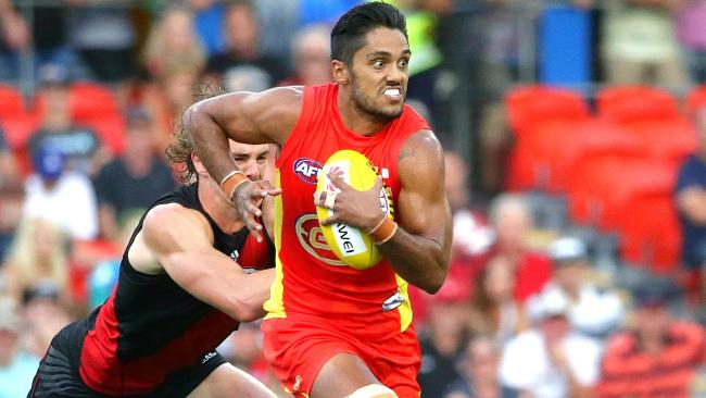 Aaron Hall is in no rush to re-sign with Gold Coast. Picture: Peter Wallis