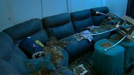 The living room was trashed. Pictures: Channel 9