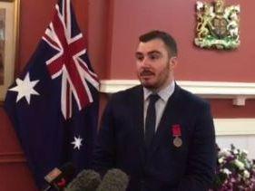 Matthew Hull receives bravery award
