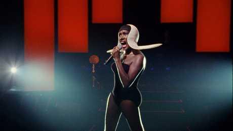 Singer Grace Jones in a scene from the movie Grace Jones: Bloodlight & Bami.