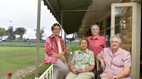 Cambooya Bowls Club executive (from left) Coral Richards, Dawn Ruming, Vera House and Helen Batterham have made the decision to shut due to costs and lack of members, Tuesday, March 6, 2018.