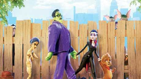 A scene from the movie Monster Family.
