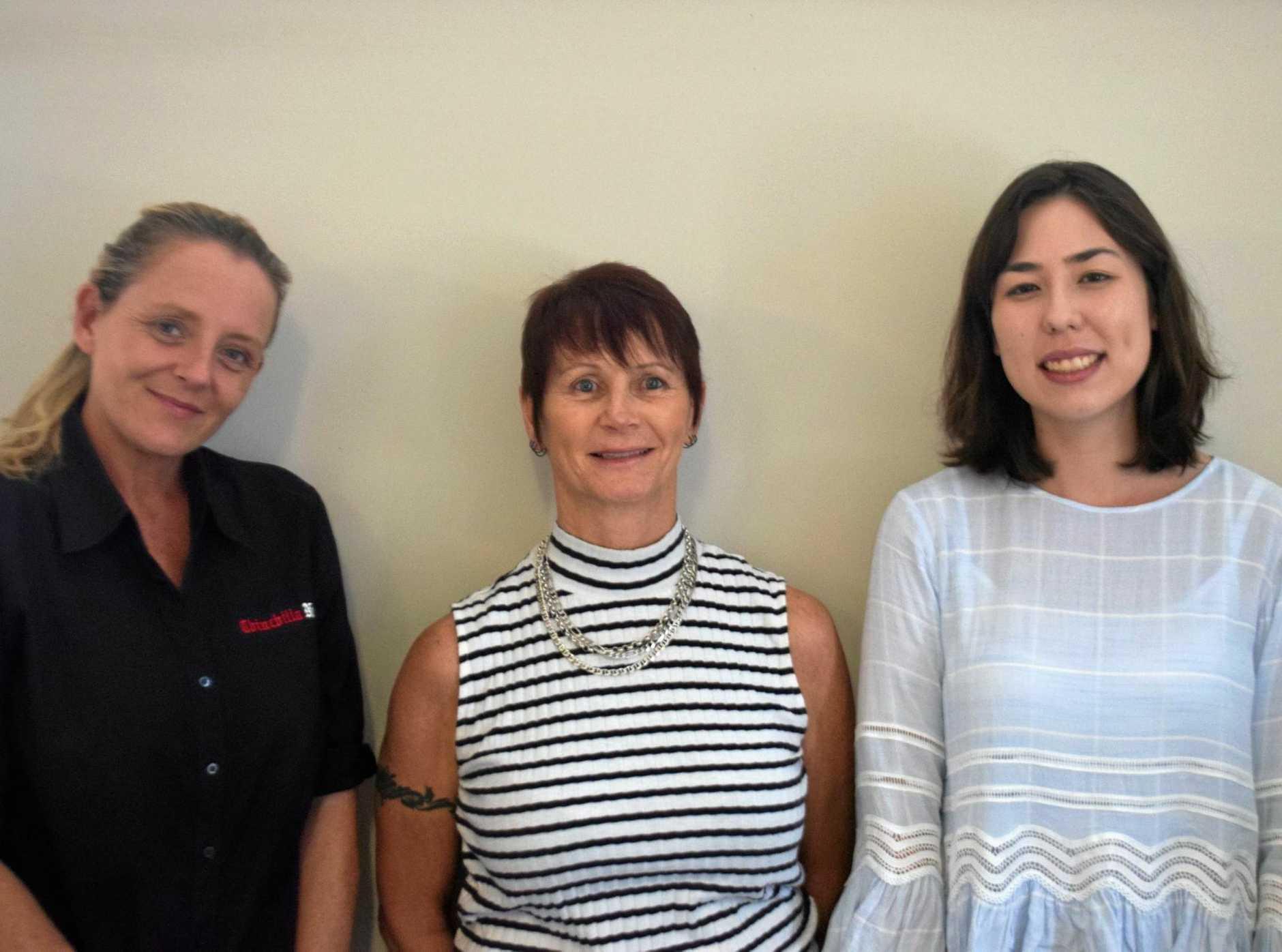 NEW FACES: New Chinchilla News staff Jodie Williams, Susan Felix, and Madison Watt.
