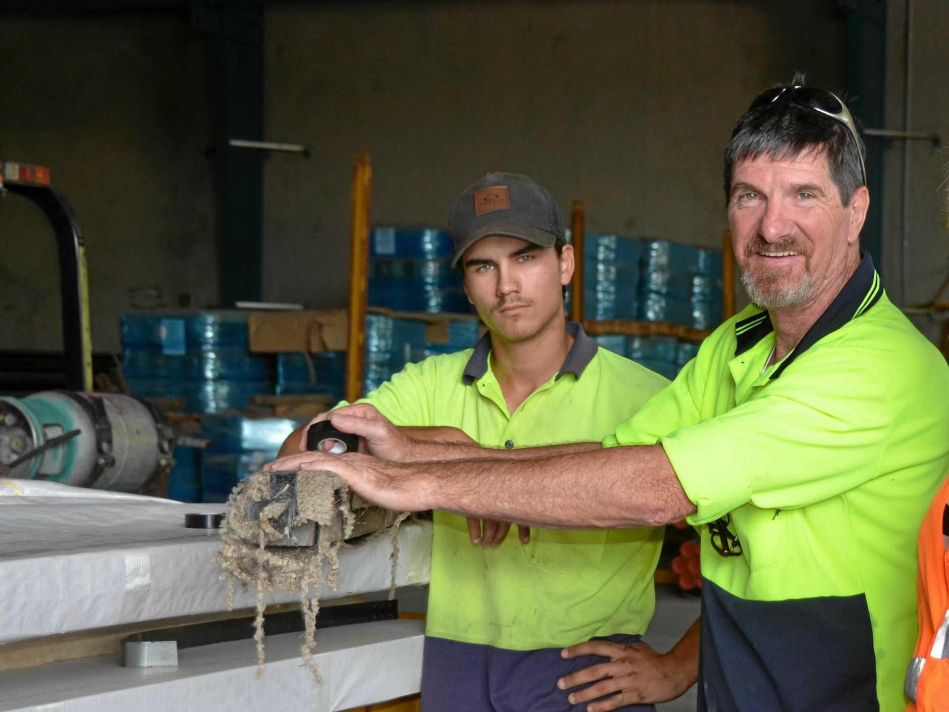 Jack Dickson and Paul Brambling enjoy their work